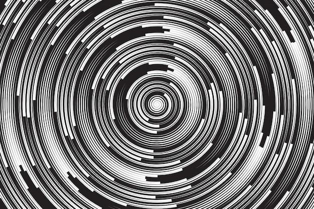 Fondo astratto a spirale ipnotico di vettore Vettore Premium