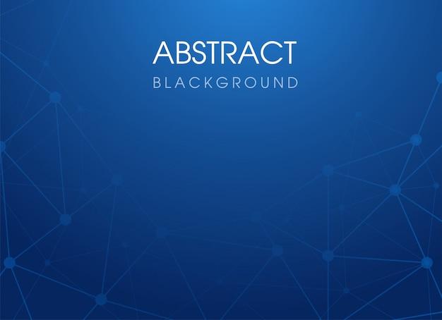 Fondo astratto blu del poligono della connessione di tecnologia. illustrazione vettoriale. Vettore Premium