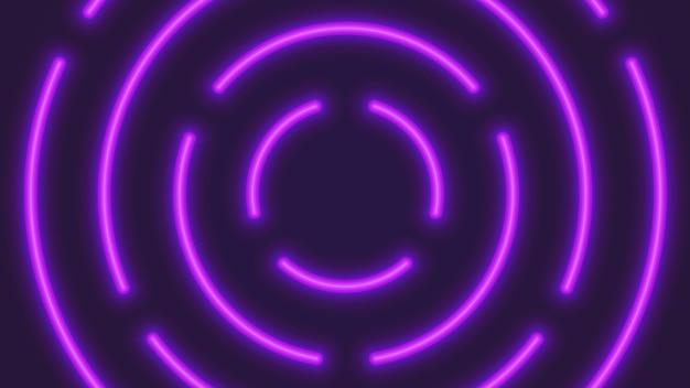 Fondo astratto dei tubi circolari al neon di illuminazione di vettore Vettore Premium