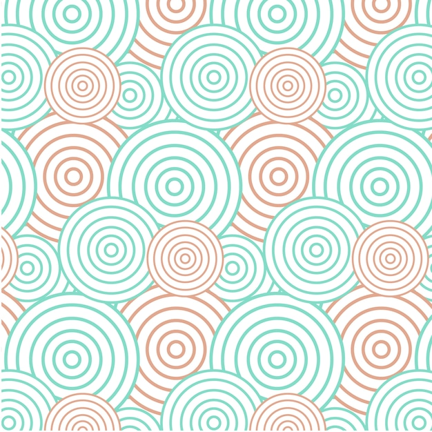 Fondo astratto del cerchio verde ed arancio - modello senza cuciture Vettore gratuito