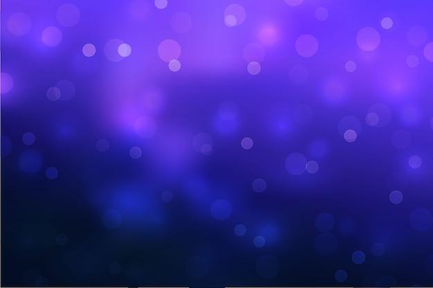 Fondo astratto del cielo con effetto della luce del bokeh della sfuocatura. Vettore Premium