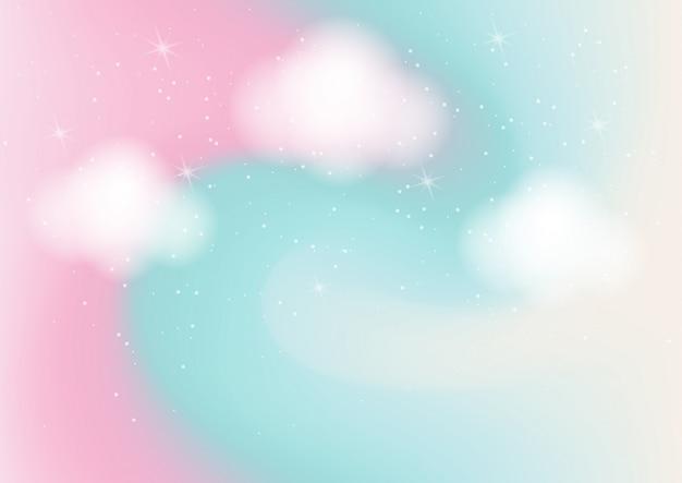 Fondo astratto di colore pastello con bokeh Vettore Premium