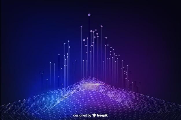 Fondo astratto di concetto di grandi quantità di dati Vettore gratuito