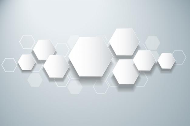 Fondo astratto di esagono di progettazione dell'alveare dell'ape Vettore Premium