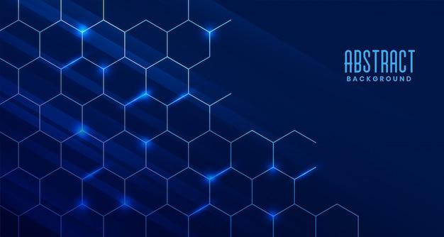 Fondo astratto di tecnologia con struttura molecolare Vettore gratuito