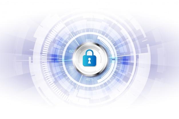 Fondo astratto di tecnologia digitale di sicurezza Vettore Premium