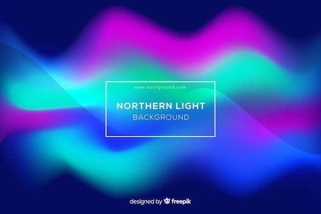 Fondo astratto variopinto dell'aurora boreale Vettore gratuito