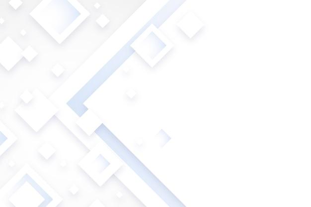 Fondo bianco di forme del diamante nello stile della carta 3d Vettore gratuito