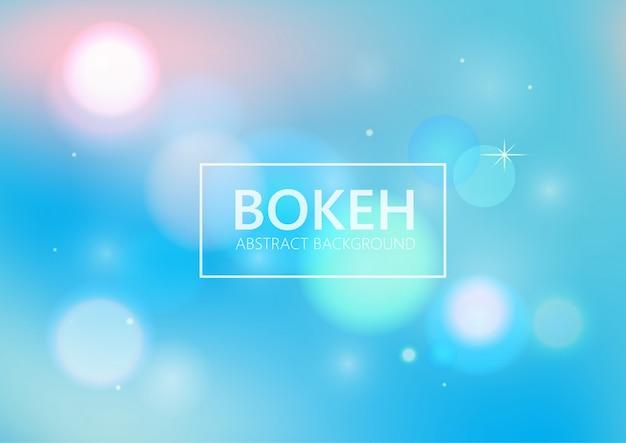 Fondo blu astratto della luce del bokeh. Vettore Premium