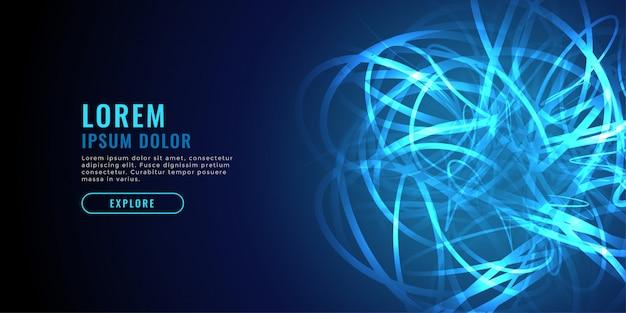 Fondo blu astratto di tecnologia del diagramma a linee di caos Vettore gratuito