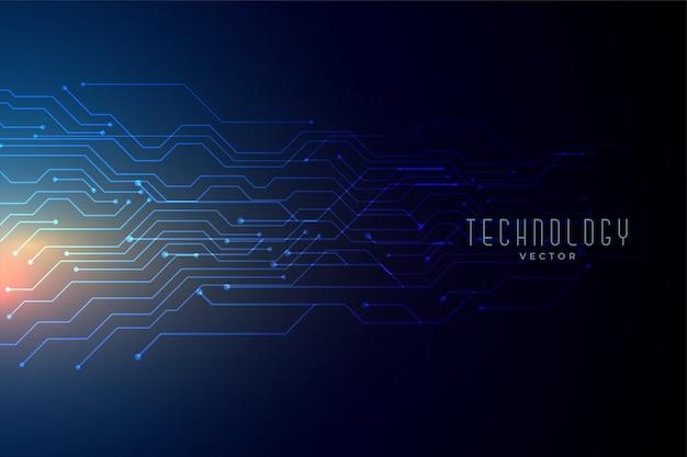 Fondo blu della rete metallica di tecnologia Vettore gratuito