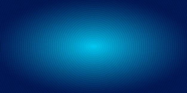 Fondo blu di semitono del modello radiale astratto dei punti Vettore Premium