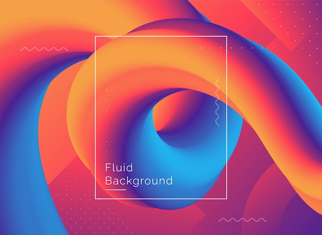 Fondo creativo di forma di flusso di progettazione 3d Vettore Premium