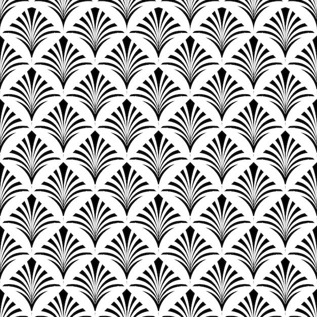 Fondo decorativo di art deco seamless pattern texture Vettore Premium