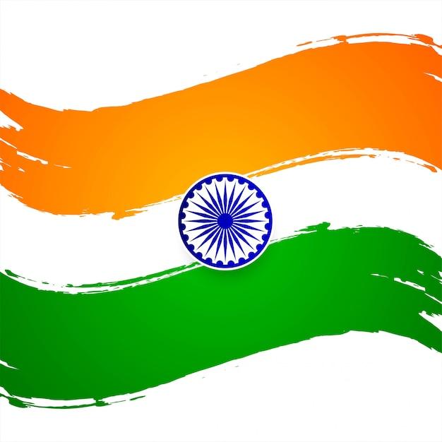 Fondo decorativo di tema indiano moderno della bandiera Vettore Premium
