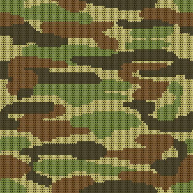Fondo decorativo militare del modello del cammuffamento. Vettore Premium