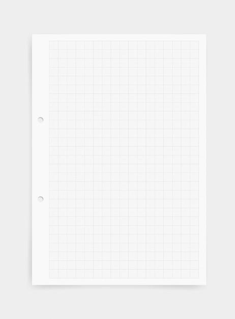 Fondo del foglio di carta millimetrata con il modello di griglia. Vettore Premium