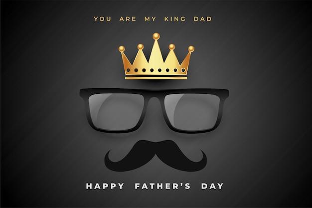 Fondo del manifesto di concetto di giorno di padri di re papà Vettore gratuito
