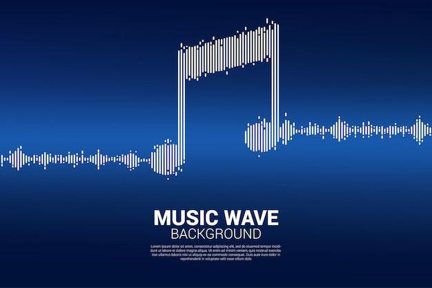 Fondo dell'equalizzatore di musica dell'onda sonora. Vettore Premium