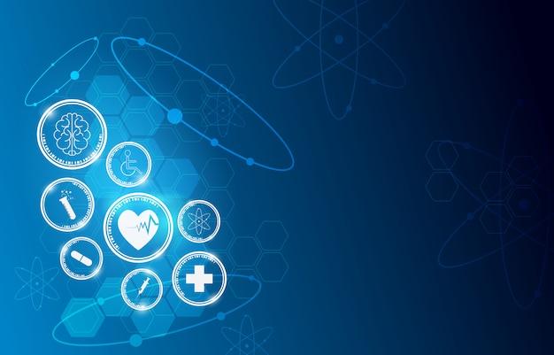 Fondo dell'innovazione di scienza di sanità medica Vettore Premium