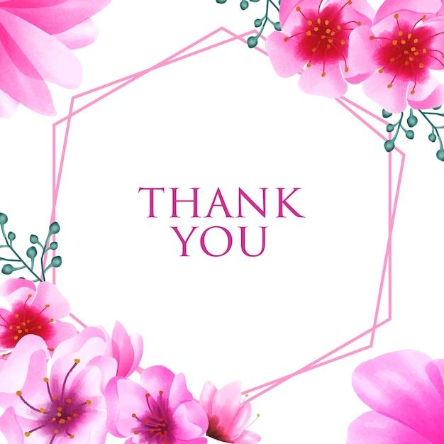 Fondo dell'ornamento floreale del fiore di ciliegia dell'acquerello Vettore Premium
