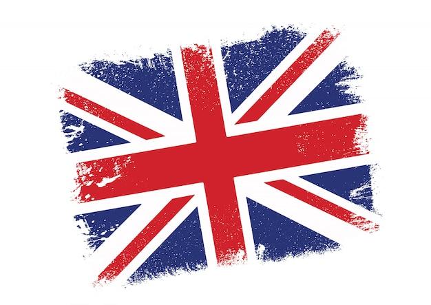 Fondo della bandiera di union jack di lerciume Vettore gratuito