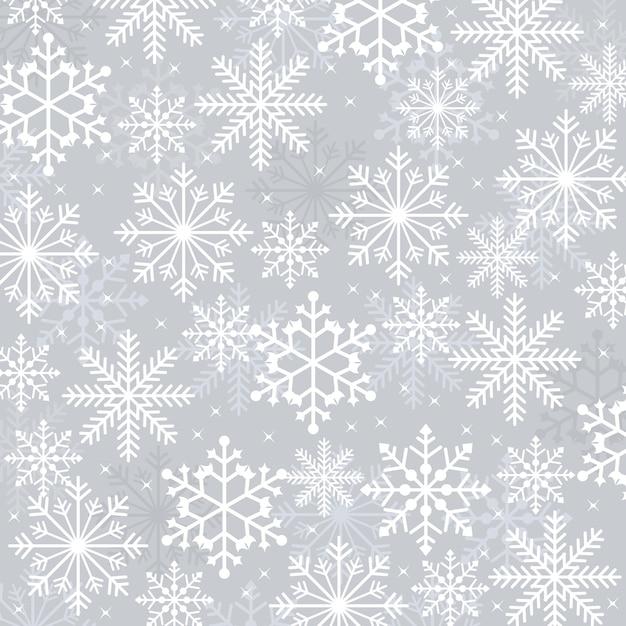 Fondo della carta di struttura dell'illustrazione del fiocco di neve della neve di inverno Vettore Premium