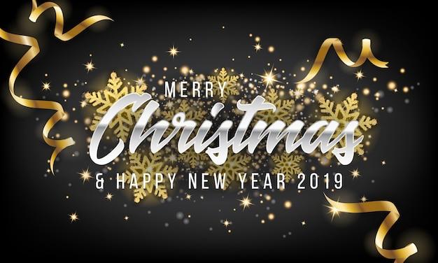 Auguri Di Buon Natale Eleganti.Fondo Della Cartolina D Auguri Del Buon Anno E Di Buon Natale 2019