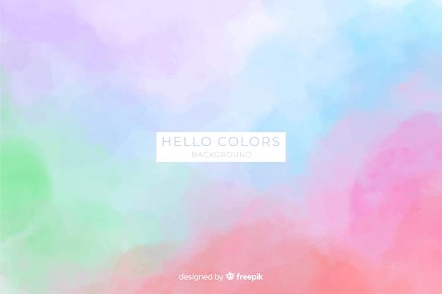 Fondo della macchia dell'acquerello di colore pastello Vettore gratuito