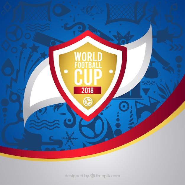 Fondo della tazza di calcio del mondo con il modello Vettore gratuito