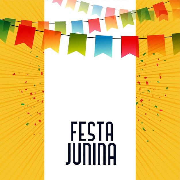 Fondo di celebrazione di festa junina latino americano Vettore gratuito
