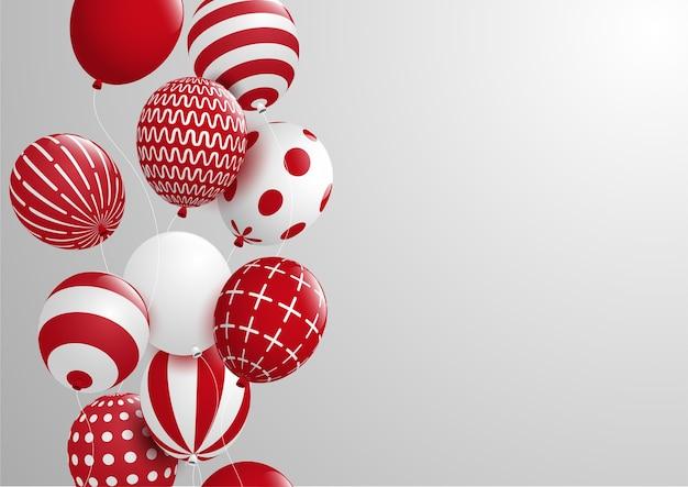 Fondo di celebrazioni e dell'estratto con il pallone decorativo variopinto vettore eps10. Vettore Premium