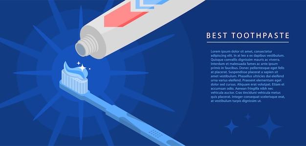 Fondo di concetto del tubo del dentifricio in pasta. illustrazione isometrica del fondo di concetto di vettore del tubo del dentifricio in pasta per web design Vettore Premium