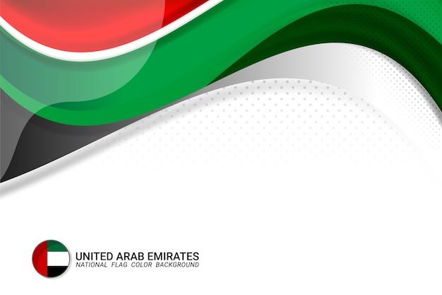 Fondo di concetto della bandiera degli emirati arabi uniti Vettore Premium