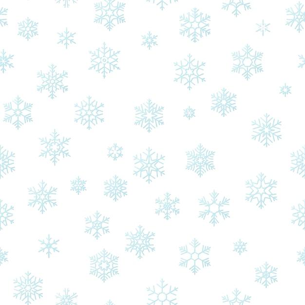 Fondo di effetto della decorazione di festa di buon natale. seamless pattern fiocco di neve blu. Vettore Premium