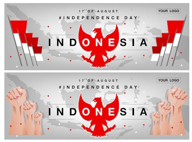 Fondo di festa dell'indipendenza dell'indonesia Vettore Premium