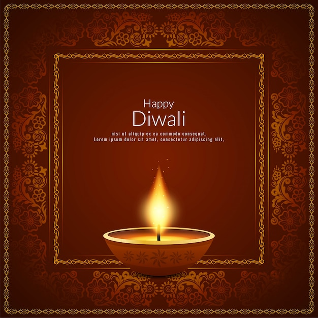 Fondo di festival indiano di diwali astratto felice Vettore gratuito