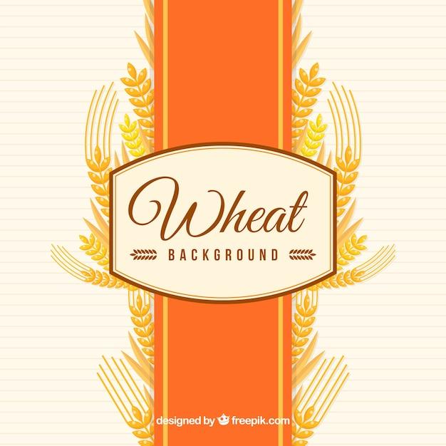 Fondo di grano piatto Vettore gratuito