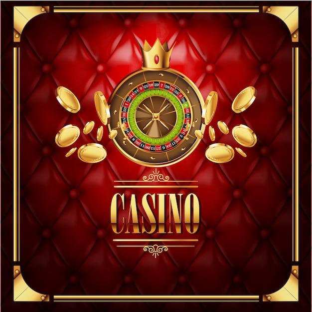 Fondo di lusso del gioco di gioco del casinò di vettore Vettore Premium