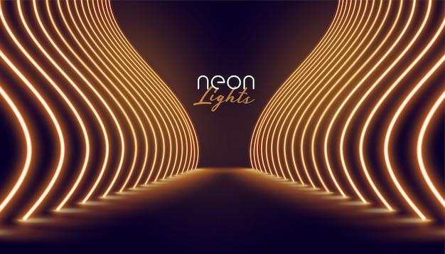 Fondo di modo dell'entrata delle luci al neon di vip Vettore gratuito