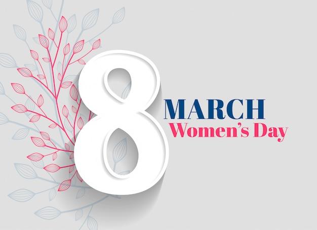 Fondo di saluto del giorno delle donne felici Vettore gratuito