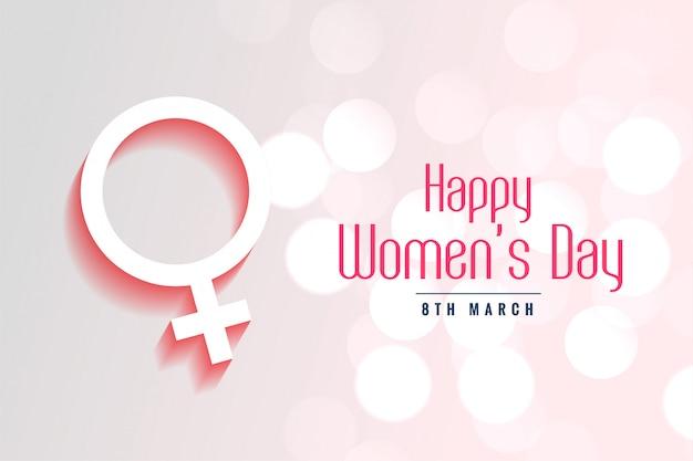 Fondo di stile del bokeh del giorno delle donne felici Vettore gratuito