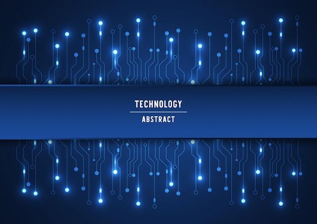 Fondo di tecnologia del circuito con il sistema di collegamento di dati digitali alta tecnologia e il computer elettronico Vettore Premium