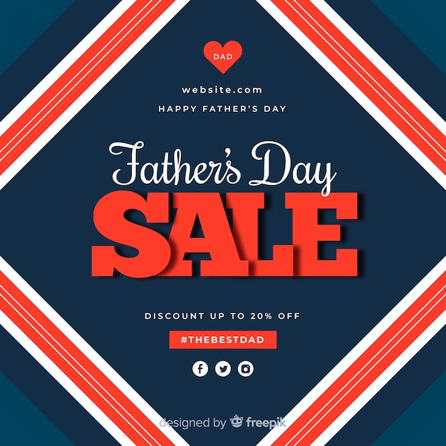 Fondo di vendita giorno piatto del padre Vettore gratuito