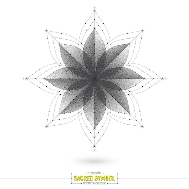 Fondo di vettore di simbolo sacro esoterico di mandala Vettore Premium