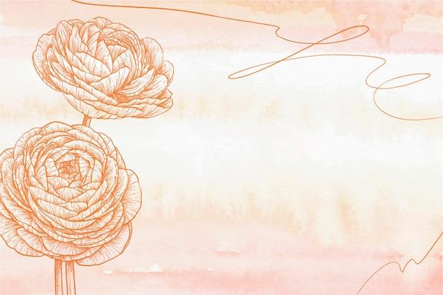 Fondo disegnato a mano pastello polvere arancione Vettore gratuito