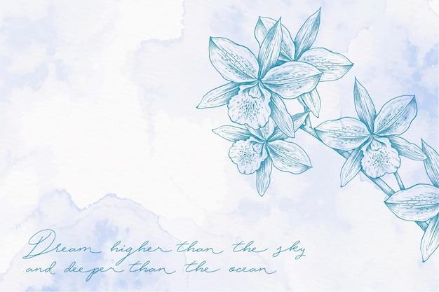 Fondo disegnato a mano pastello polvere blu-chiaro Vettore gratuito