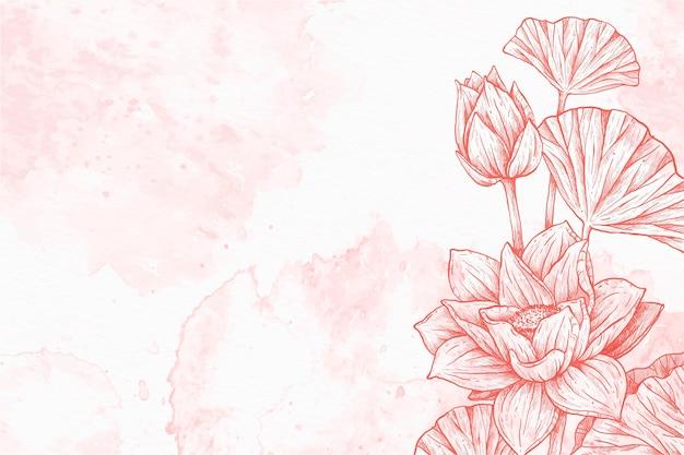 Fondo disegnato a mano pastello polvere floreale Vettore gratuito