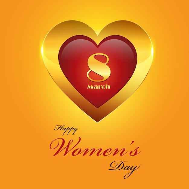 Fondo dorato del giorno delle donne Vettore Premium