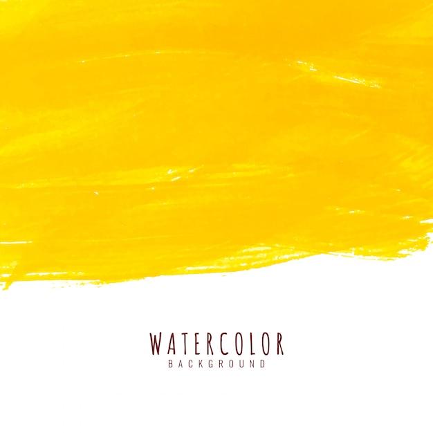 Fondo elegante dell'acquerello giallo luminoso astratto Vettore gratuito